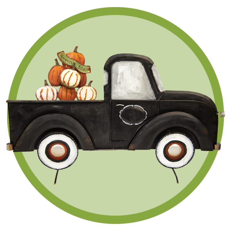 The round top collection. Pumpkin clipart truck