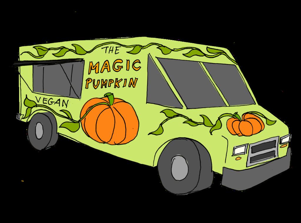 Pumpkin clipart truck. Geekerella fanart the magic