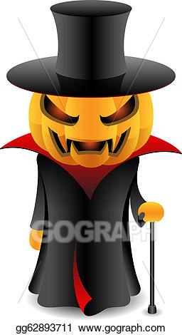 Vampire clipart pumpkin. Vector halloween