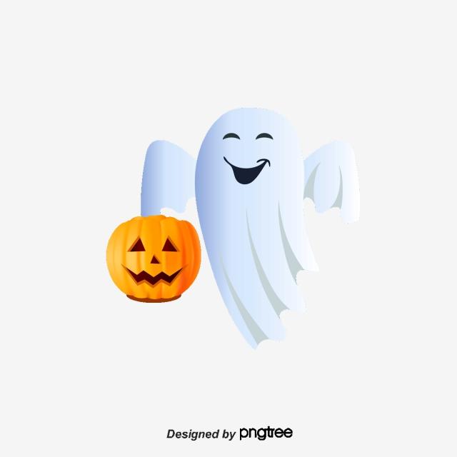 Clipart pumpkin vector. Executive cute little ghost