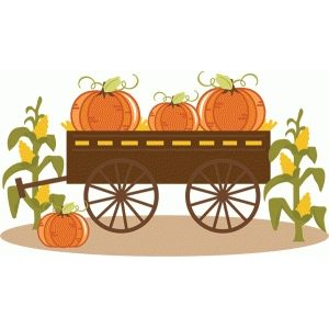 Pumpkins in art fall. Pumpkin clipart wagon