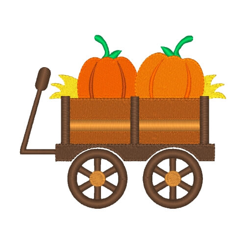 Pumpkin clipart wagon. Fall