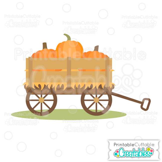 Fall free svg file. Pumpkin clipart wagon