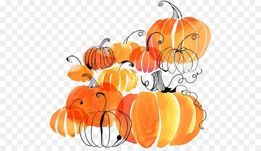 Clipart pumpkin watercolor. Flower background autumn food