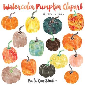 . Clipart pumpkin watercolor