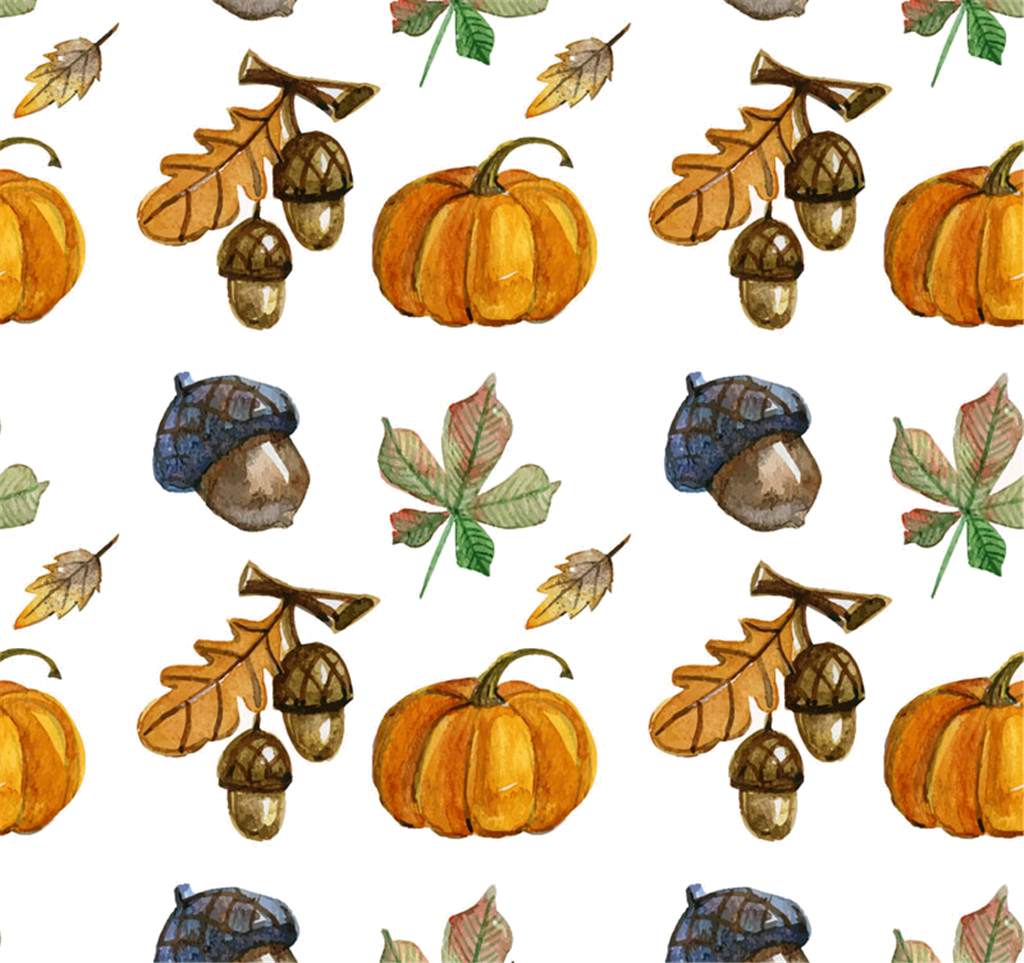 Autumn painting season hand. Pumpkin clipart watercolor
