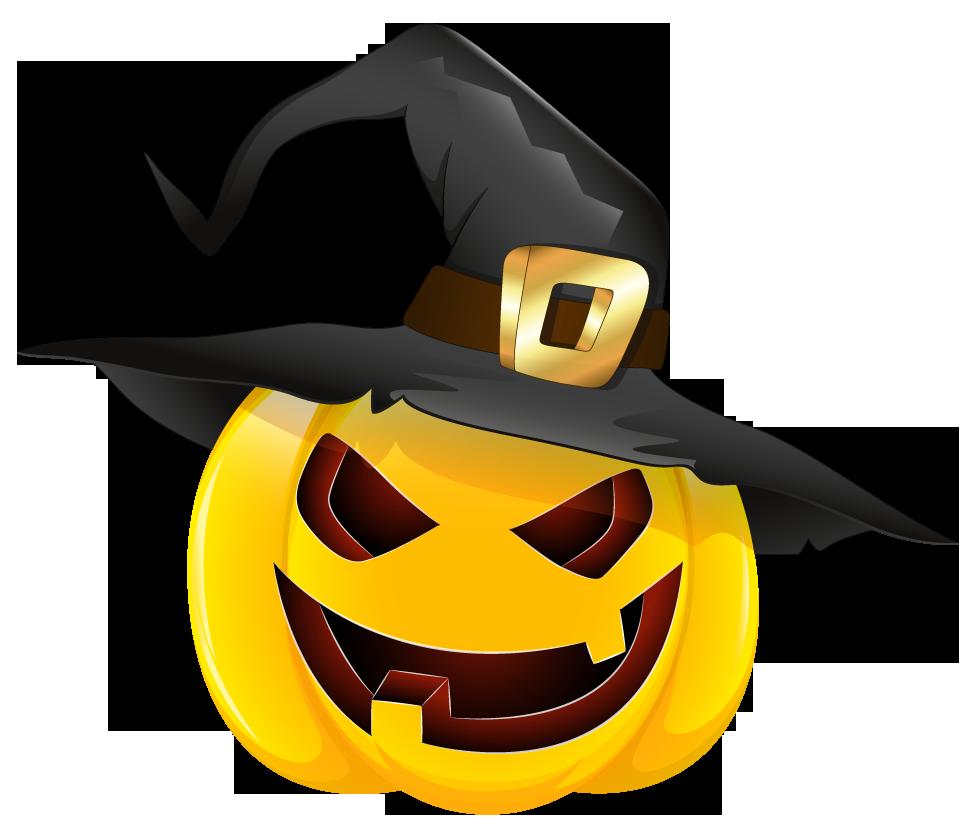 Witch clipart pumpkin. Hat halloween in evil