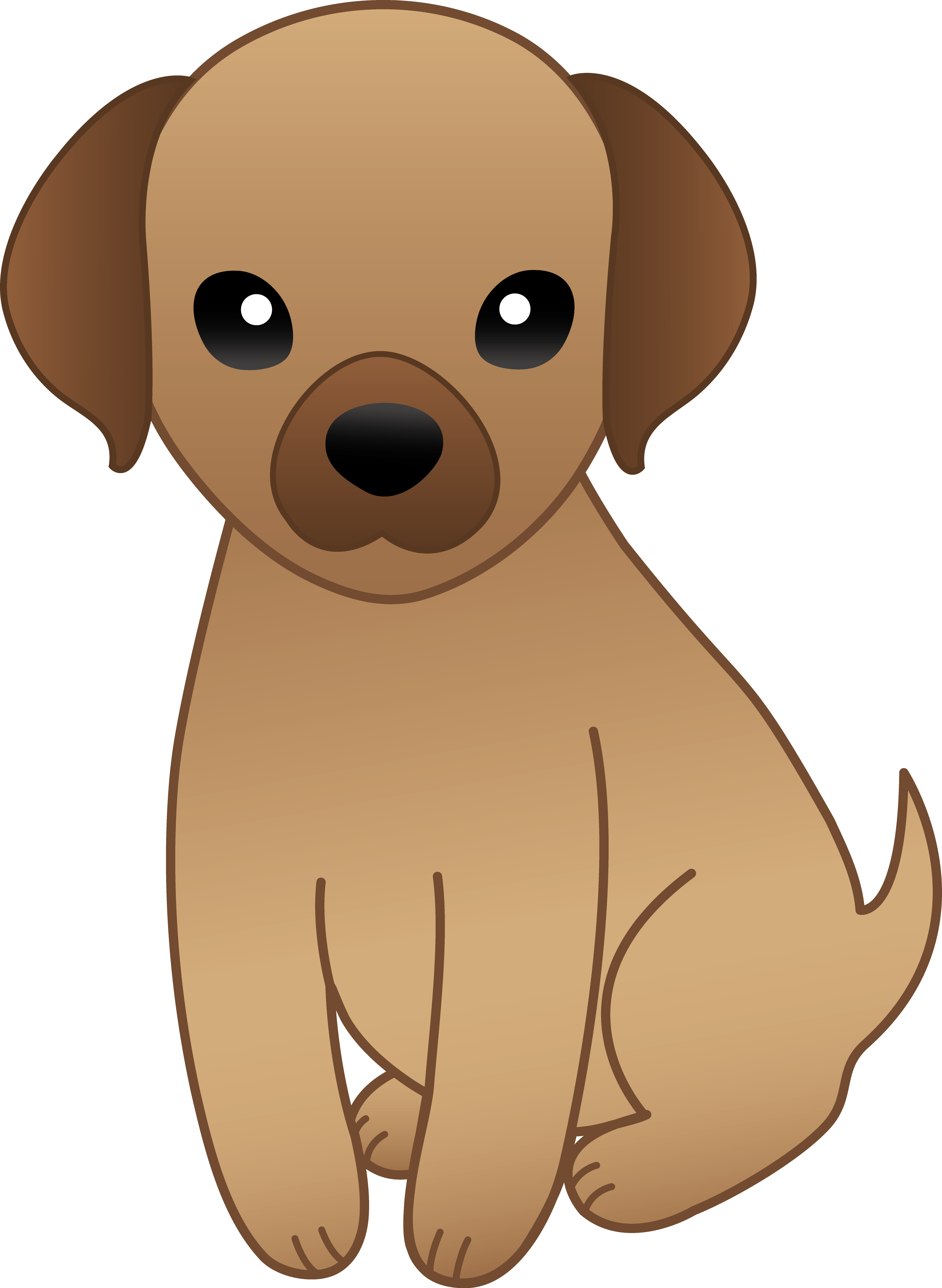Little brown puppy free. Dog clipart cartoon