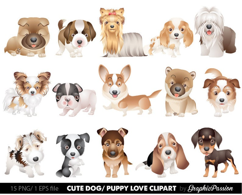 Dog cute dogs clip. Clipart puppy 2 puppy