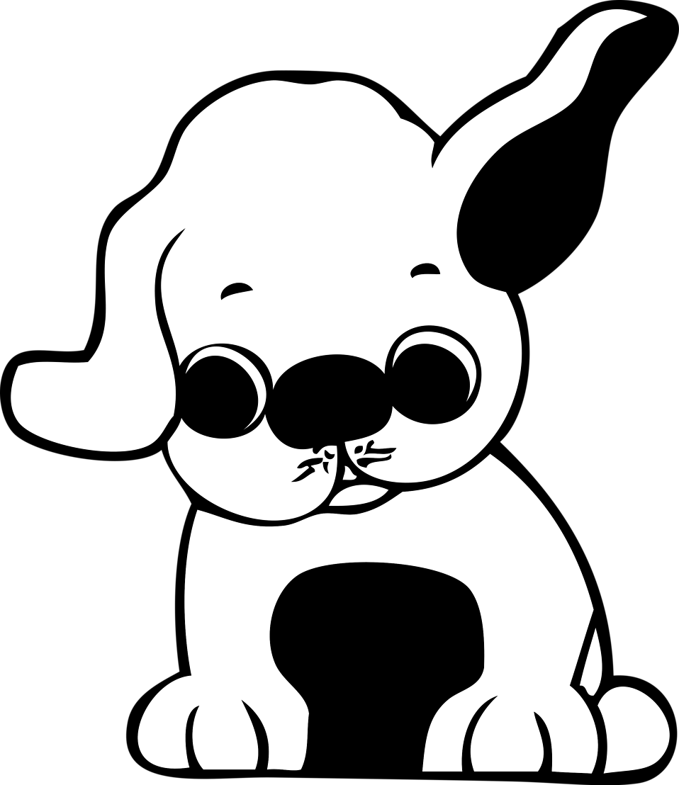 Clipart puppy 5 puppy. Free stock photo illustration