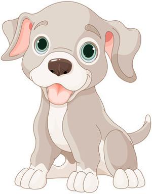 Clip art grey dog. Clipart puppy
