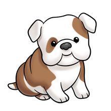 Cute cartoon dogs clip. Clipart puppy
