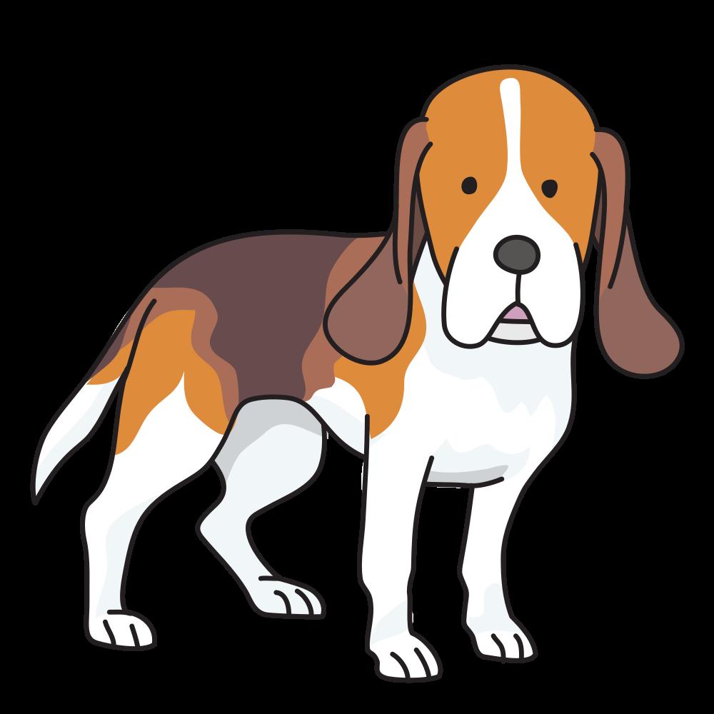 Beagle clipart worried. Dog clip art vector