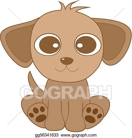 Vector art cute looking. Clipart puppy big eye