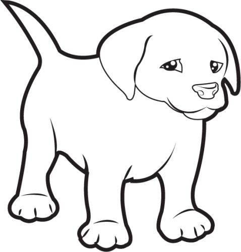 Clipart puppy black and white. Free pictures download clip