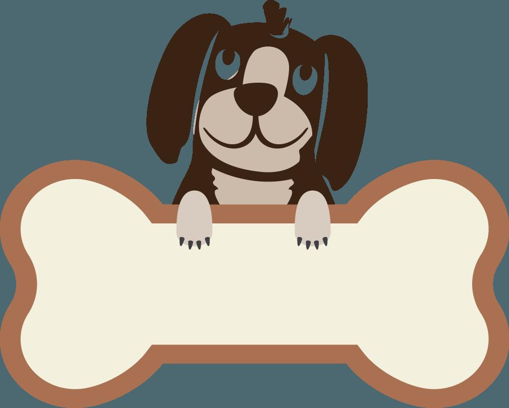 Pet clipart dog bone. Logo kennel club transprent
