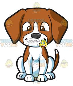 A and white . Clipart puppy brown puppy