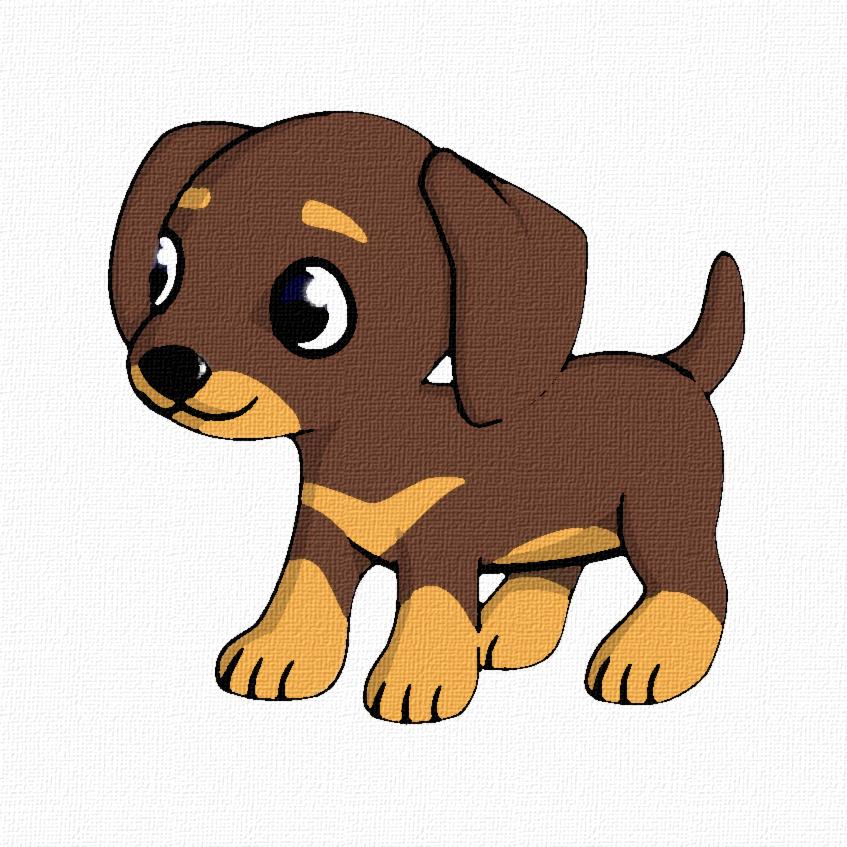 Clipart puppy brown puppy. Cartoon love dog transparent