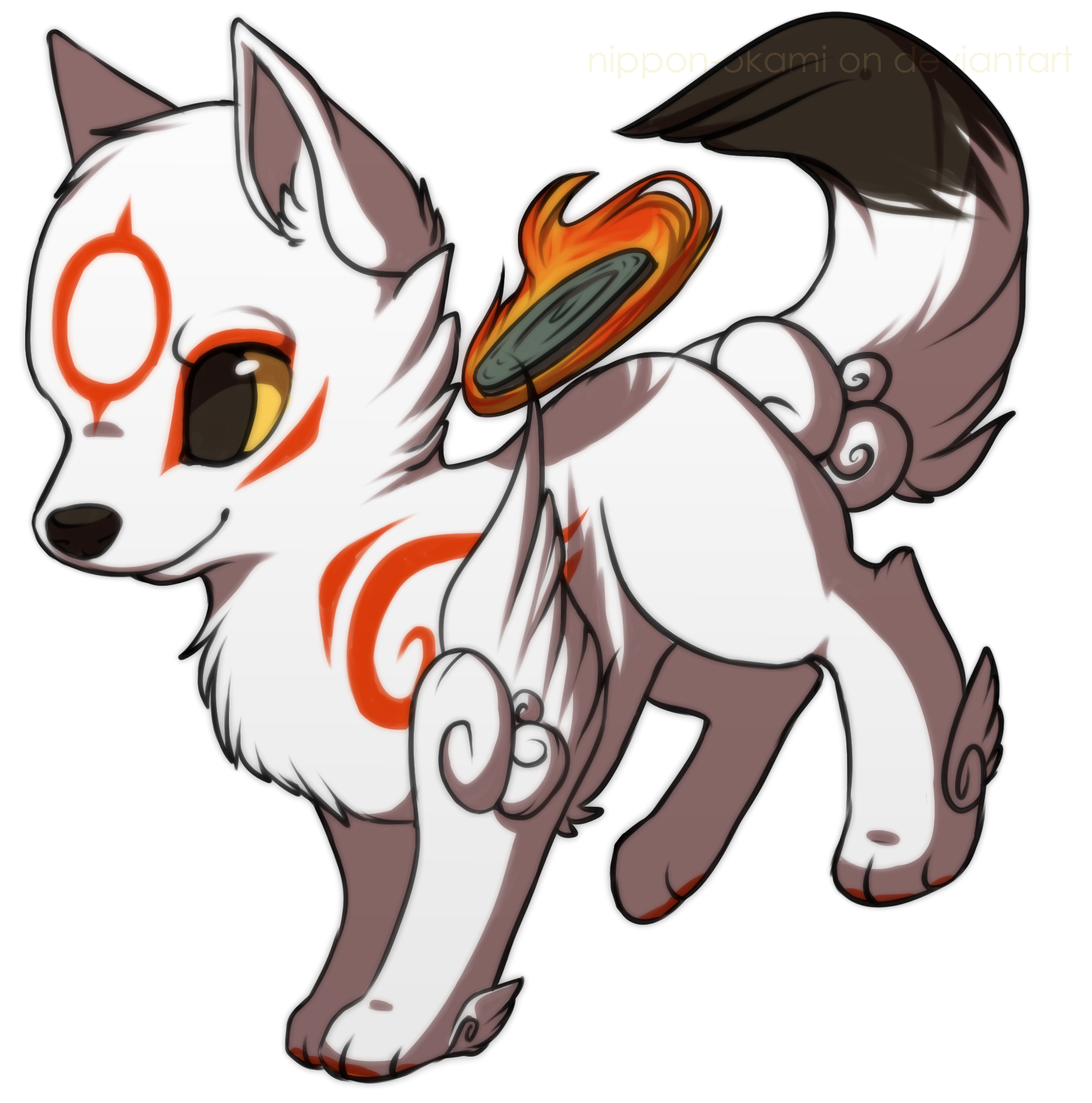 Wing clipart chibi. Gray wolf drawing anime
