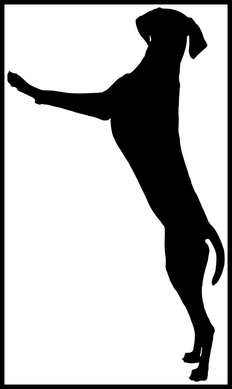 Rat clipart silhouette. Amazing dog standing playing