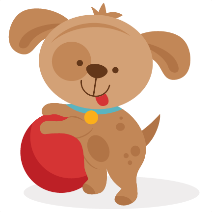 Clipart puppy cut. Playing svg scrapbook file