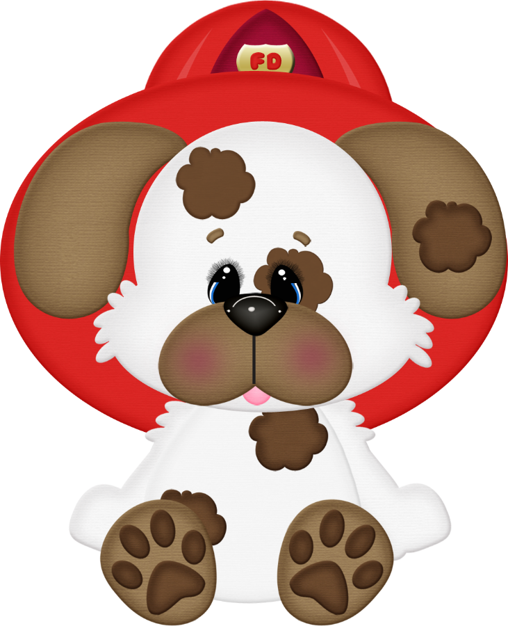 Pin by ana maria. Clipart puppy firefighter