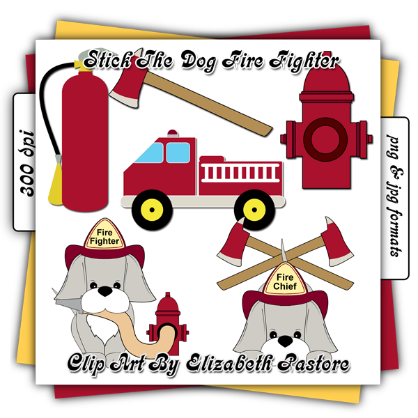 January clipart cozy. Firefighter puppy clip art