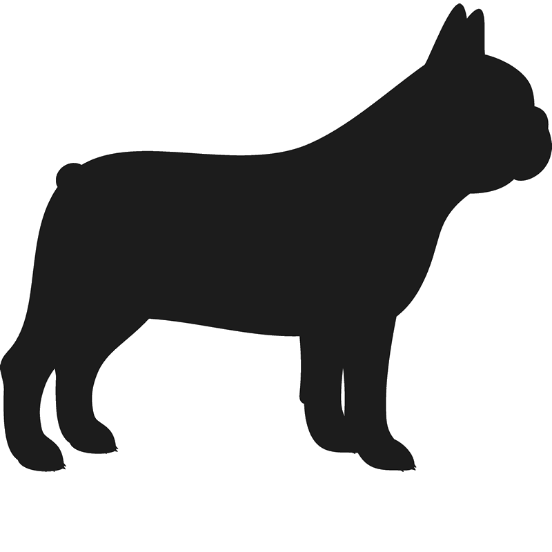Clipart rat smart. French bulldog stamp silhouette