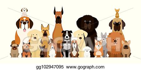 Clipart puppy group puppy. Vector art of dog