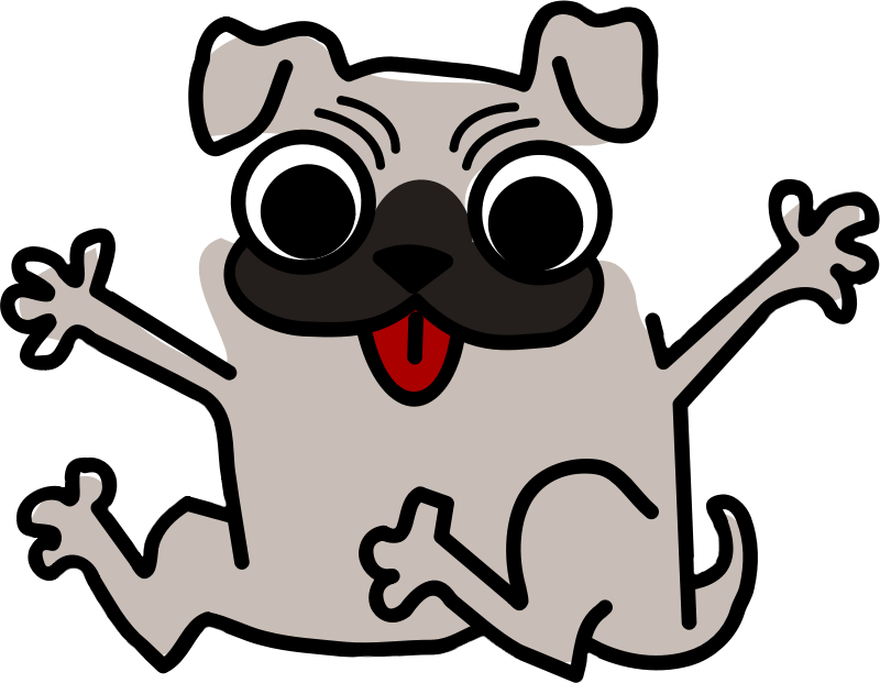 Clipart puppy happy. Dog for kids at