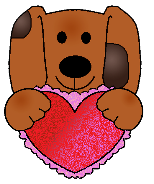 Clipart puppy heart. Graphics by ruth valentine