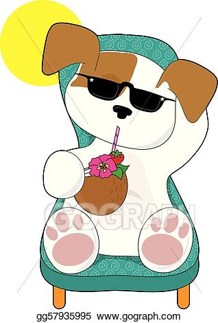 Eps vector cute stock. Clipart puppy holiday