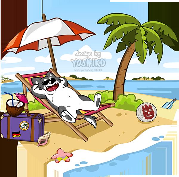 Clipart puppy holiday. Yoshiko s island trip
