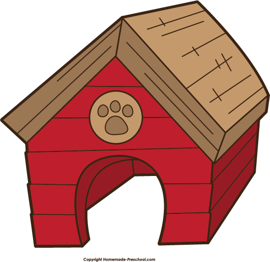 Free pet house cliparts. Doghouse clipart dog shelter