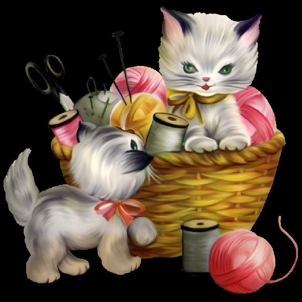 Cute kittens cartoon clip. Crochet clipart background