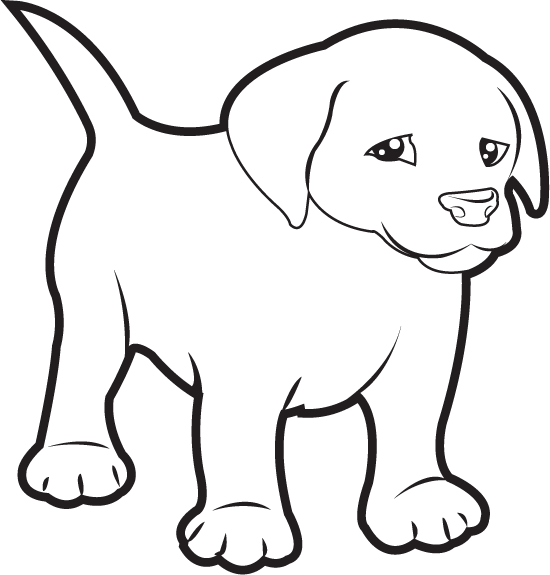 Clipart puppy labrador. Free clip art animals