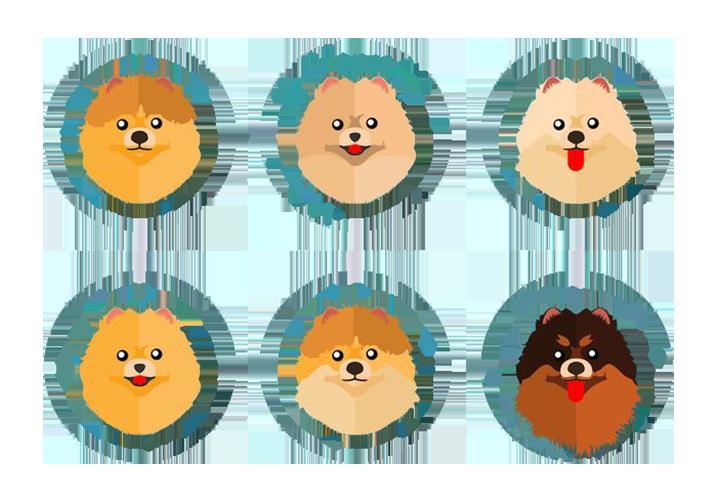 Pomeranian cartoon clip art. Clipart puppy litter puppy