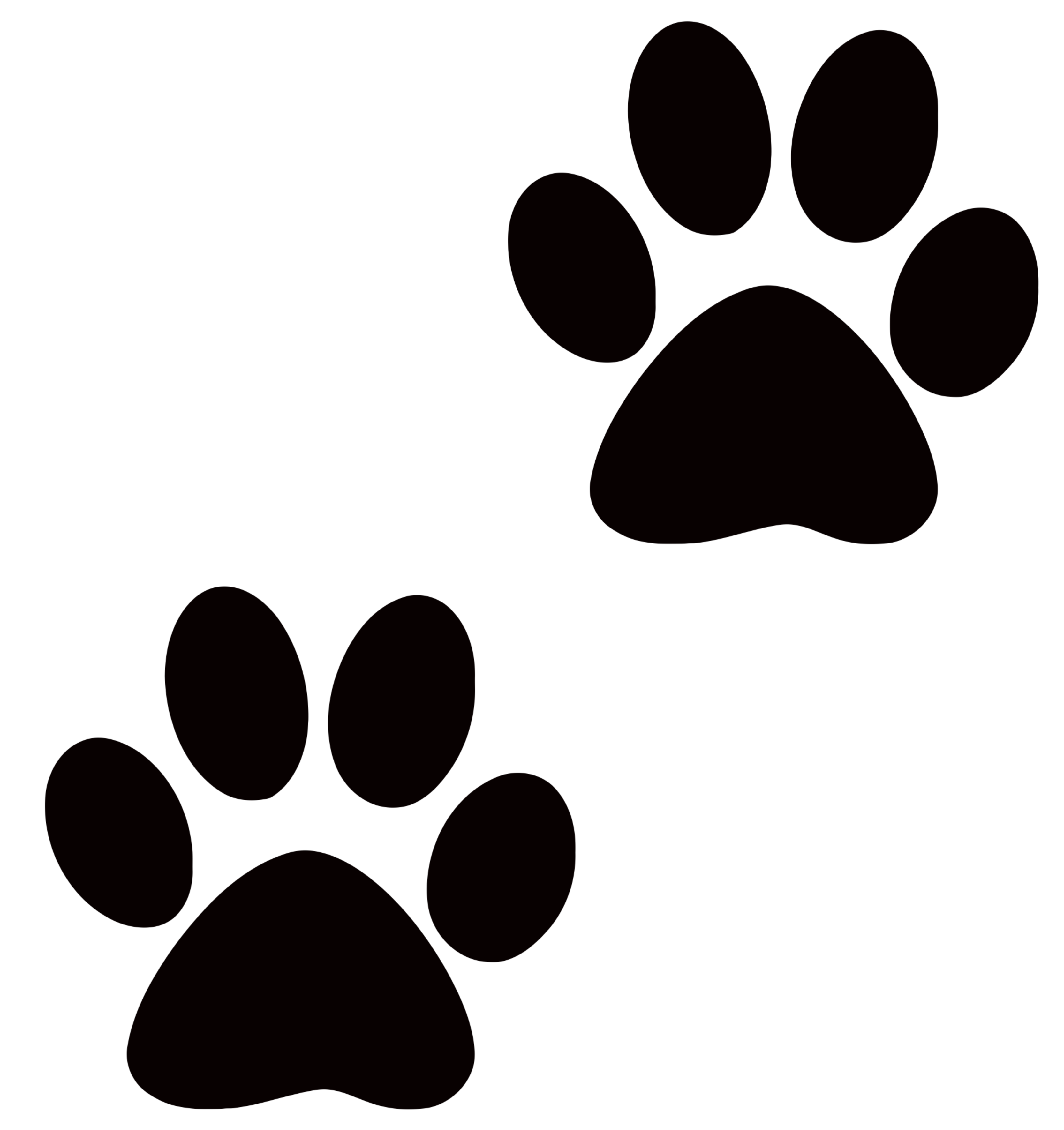 collection of transparent. Paw clipart clear background
