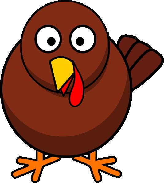 Turkey round cartoon animal. Clipart puppy pokey