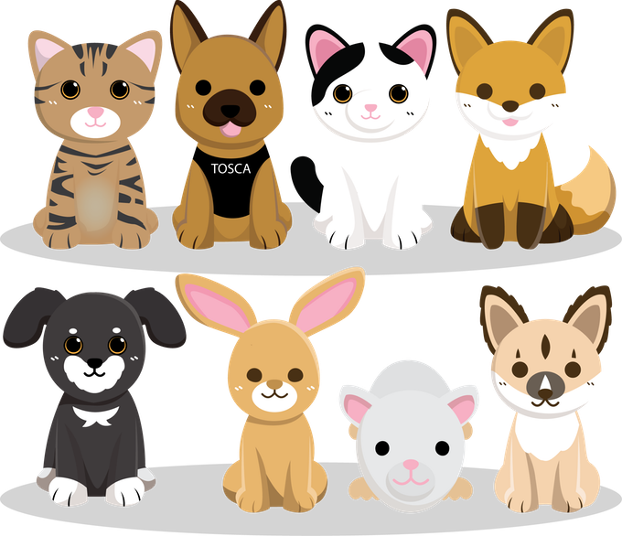Shelter pets plush toys. Pet clipart animal sanctuary