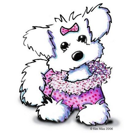 Fashion gatos y perros. Clipart puppy princess