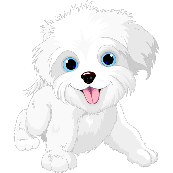 White dogs dog vector. Clipart puppy pup