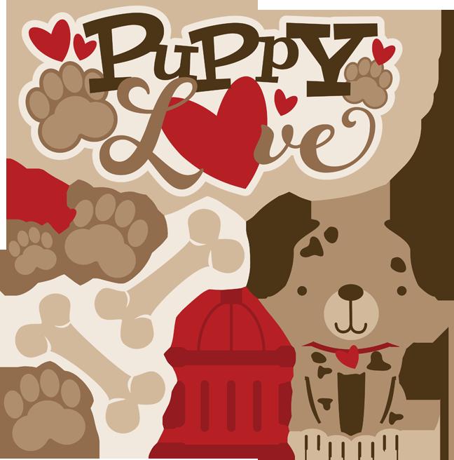 Clipart puppy puppy love. Svg