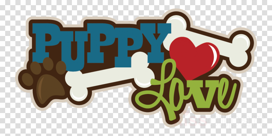 Clipart puppy puppy love. Logo illustration transparent