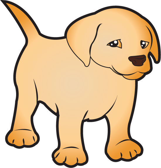 clipart puppy real puppy