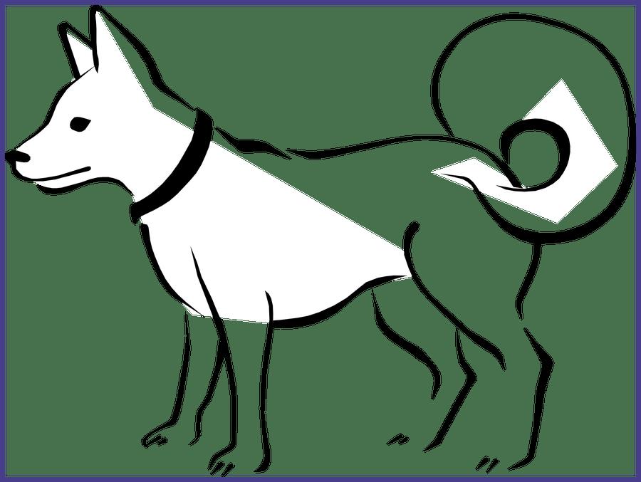 Best black dog bone. Clipart puppy realistic