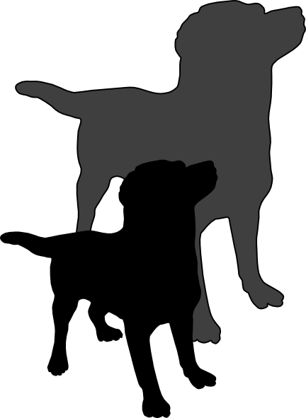 A dog and his. Clipart puppy shadow