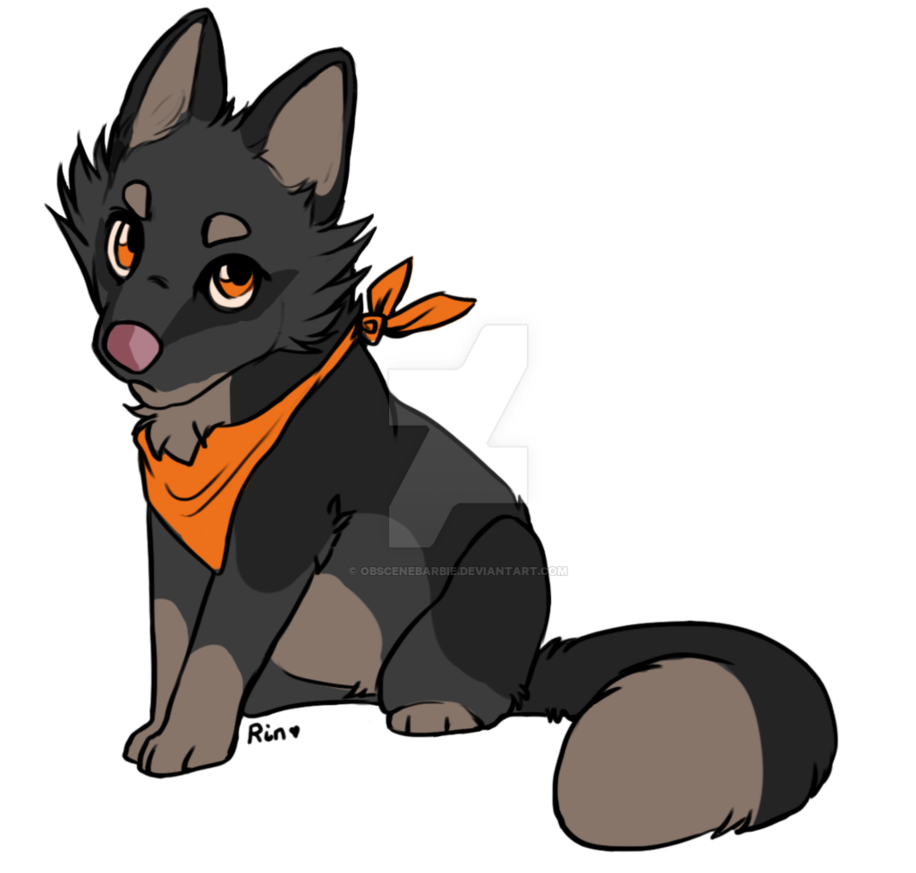 Amia s pet wolf. Clipart puppy shadow