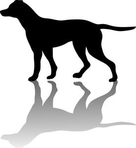 Dog clip art library. Clipart puppy shadow