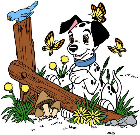 Disney springtime clip art. Clipart puppy spring